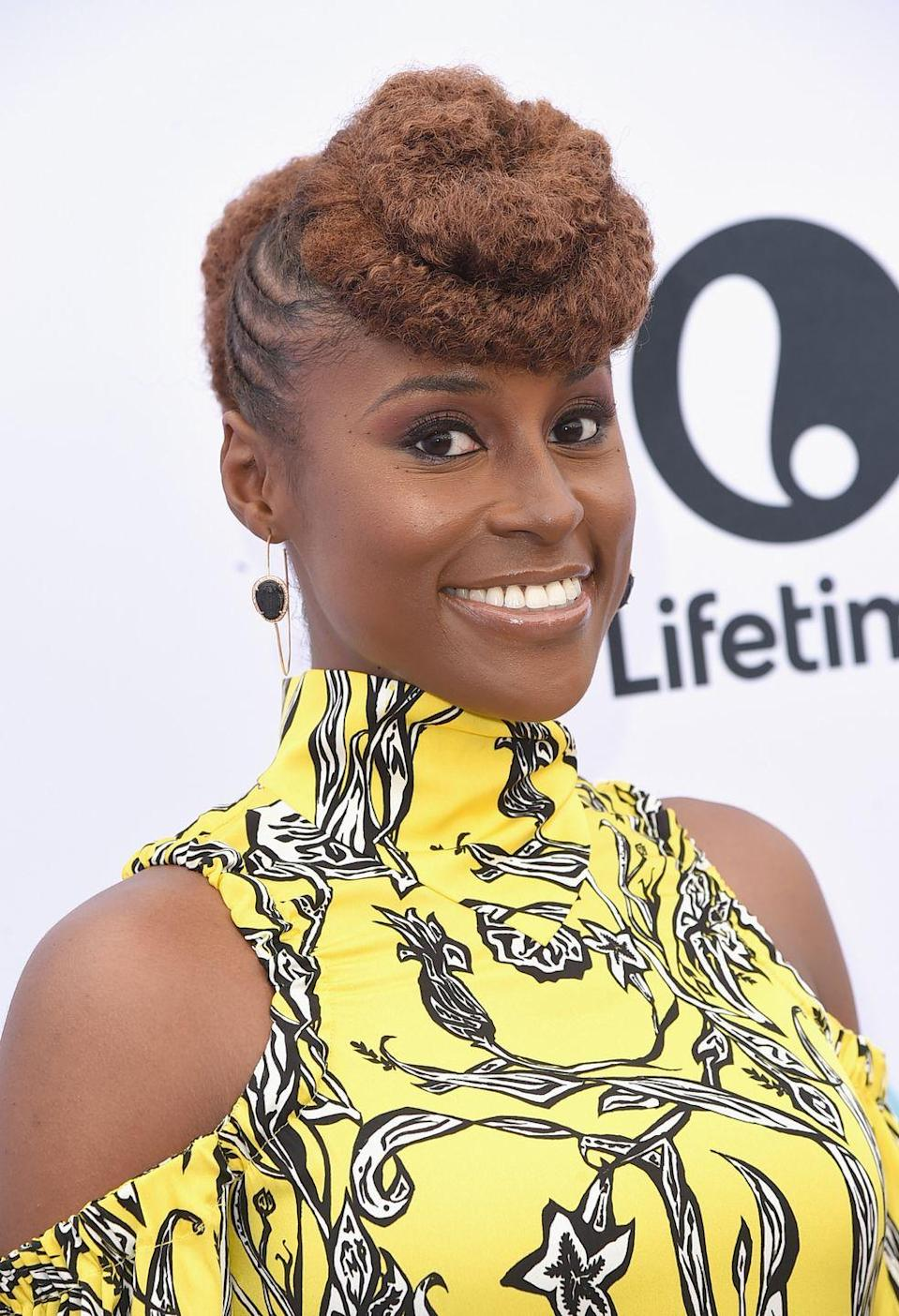 <p>Short hair is definitely not limiting. Case in point: Adding a weave to the front and braids to the side for an elegant bouffant style like <strong>Issa Rae</strong>'s.</p>