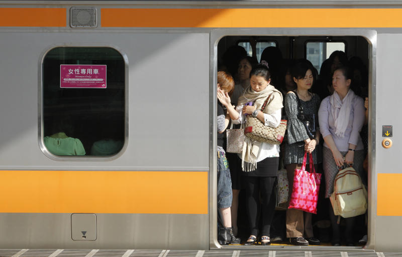 A women-only carriage in Tokyo. (Yuriko Nakao / Reuters)