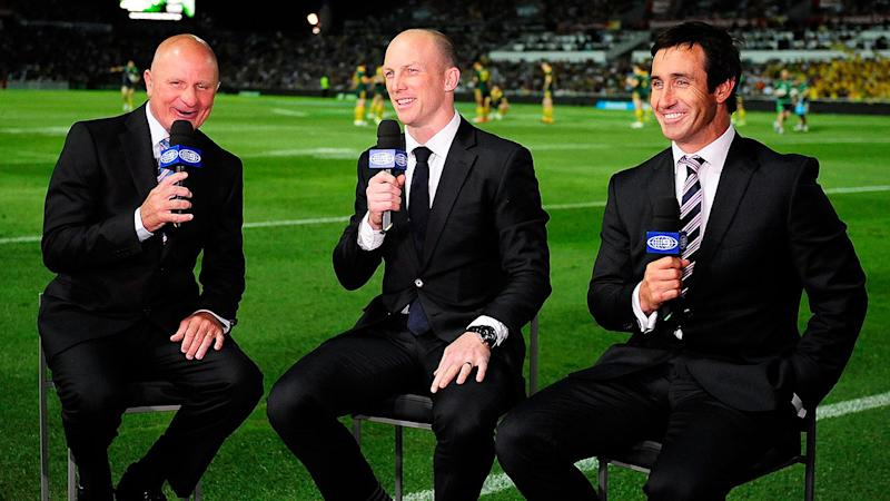 Pictured here, Peter Sterling (L), Darren Lockyer and Andrew Johns (R).