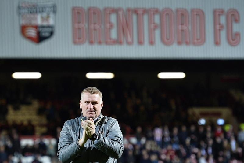 Heading in the right direction: Brentford boss Dean Smith: Getty Images