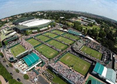 View over Wimbledon courts. Credit AELTC