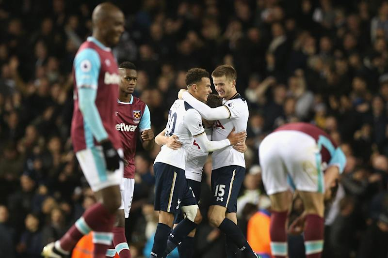 Defeat | Tottenham scored twice late on to beat West Ham 3-2 in November: Tottenham Hotspur FC via Getty Images