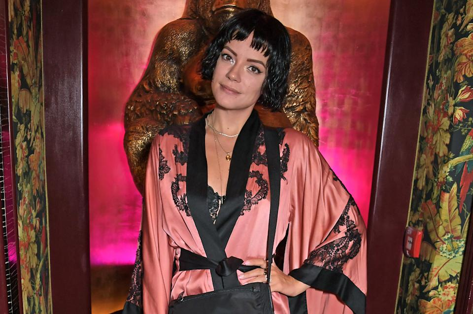 LONDON, ENGLAND - SEPTEMBER 12:   Lily Allen attends the Agent Provocateur AW19 campaign launch party, in collaboration with Sink The Pink and CIROC Vodka, at Annabel's on September 12, 2019 in London, England.  (Photo by David M. Benett/Dave Benett/Getty Images for Agent Provocateur)