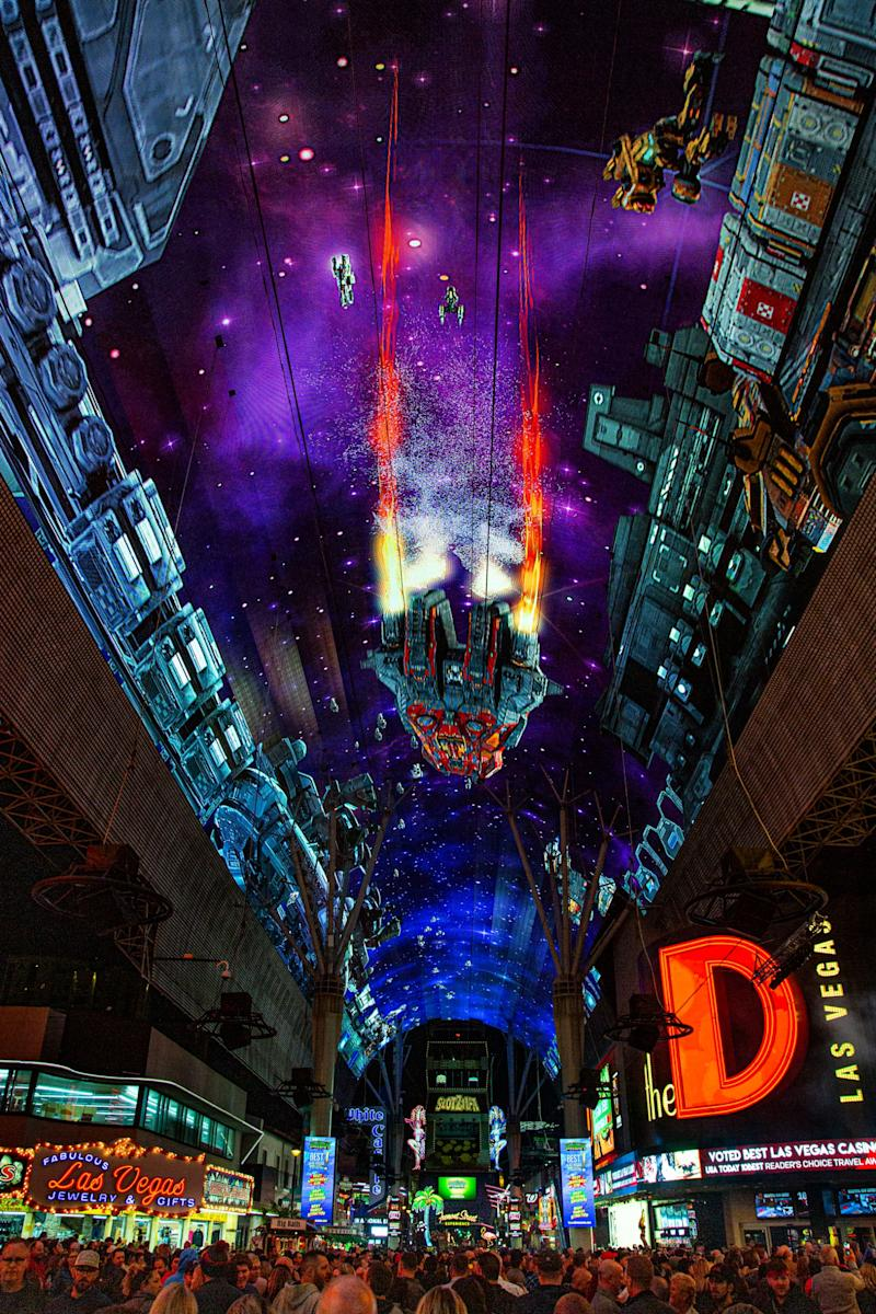 Fremont Street Experience Unveils Stunning Visuals on Newly Renovated Viva Vision Canopy