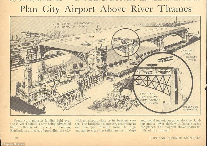 The 1934 plan for the Westminster airport (Barratt)