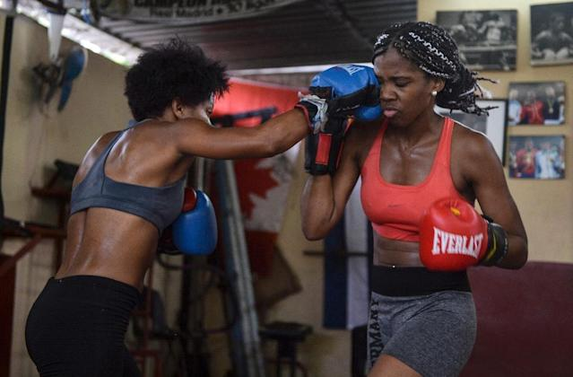 Cuba is one of the world's leading powers in boxing but bans women from competing. (AFP Photo/YAMIL LAGE)