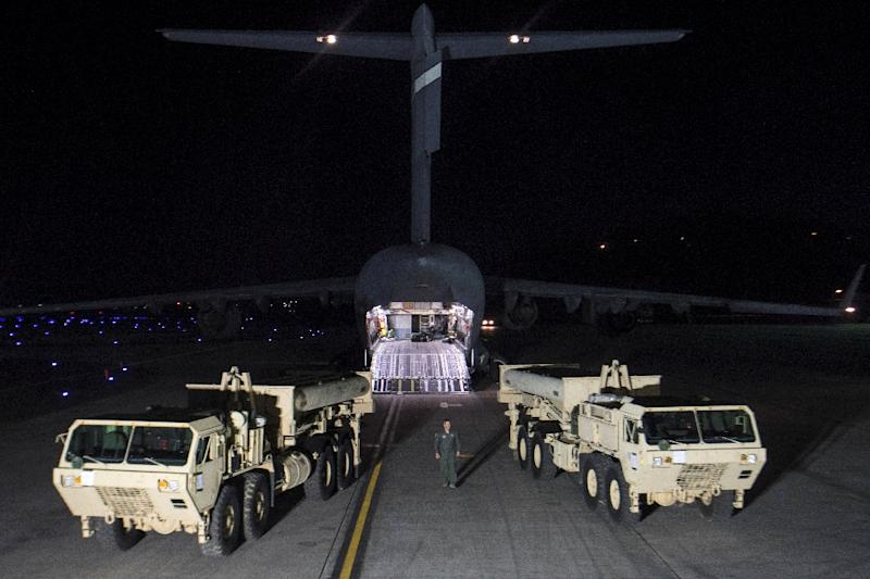 The deployment of the US THAAD missile defence system in SOuth Korea has sparked worsening relations between Beijing and Seoul (AFP Photo/Handout)