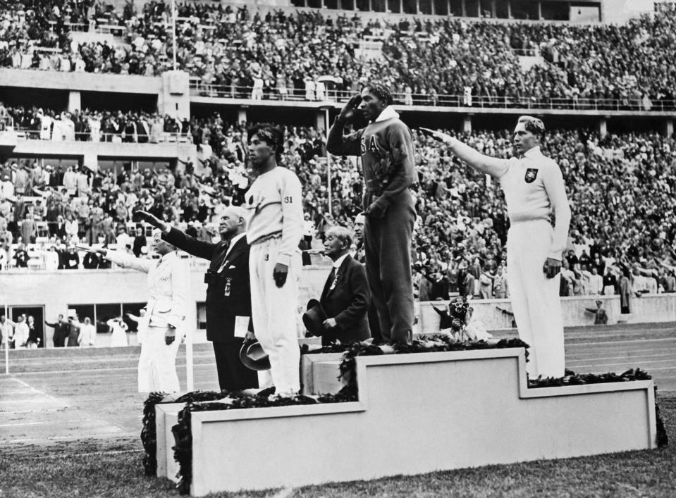 """<p>Nazi dictator Adolf Hitler envisioned the 1936 Berlin Olympiad as a showpiece for blonde, blue eyed aryans. Unfortunately for Hitler, black American runner Jesse Owens flipped the script, winning four gold medals and besting the """"ubermen."""" It was too much for the Fuhrer who refused to meet Owens. </p>"""