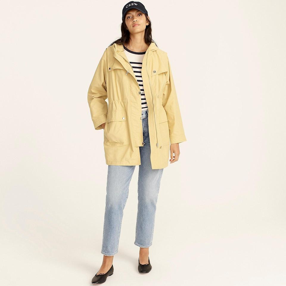 """<br><br><strong>J. Crew</strong> Lightweight utility jacket, $, available at <a href=""""https://go.skimresources.com/?id=30283X879131&url=https%3A%2F%2Fwww.jcrew.com%2Fp%2Fwomens%2Fcategories%2Fclothing%2Fcoats-and-jackets%2Flightweight-jacket%2Flightweight-utility-jacket%2FBA160"""" rel=""""nofollow noopener"""" target=""""_blank"""" data-ylk=""""slk:J. Crew"""" class=""""link rapid-noclick-resp"""">J. Crew</a>"""