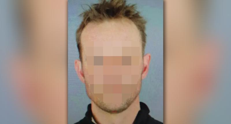 A blurred image of the suspect being pictured in British and German media. Source: Bild