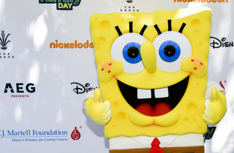 SpongeBob SquarePants attends T.J. Martell Foundation's 10th Annual LA Family Day at The Grove on October 05, 2019 in Los Angeles, California. (Photo by Rodin Eckenroth/Getty Images)