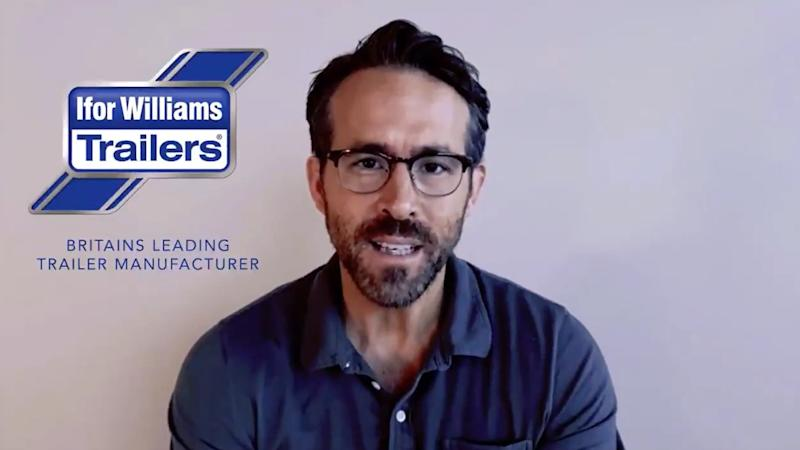 Ryan Reynolds announces Wrexham takeover with spoof Ifor Williams Trailers ad