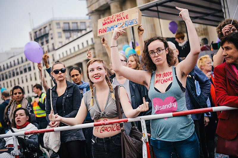 """Anti-Abortion Protesters Hold """"March For Life"""""""
