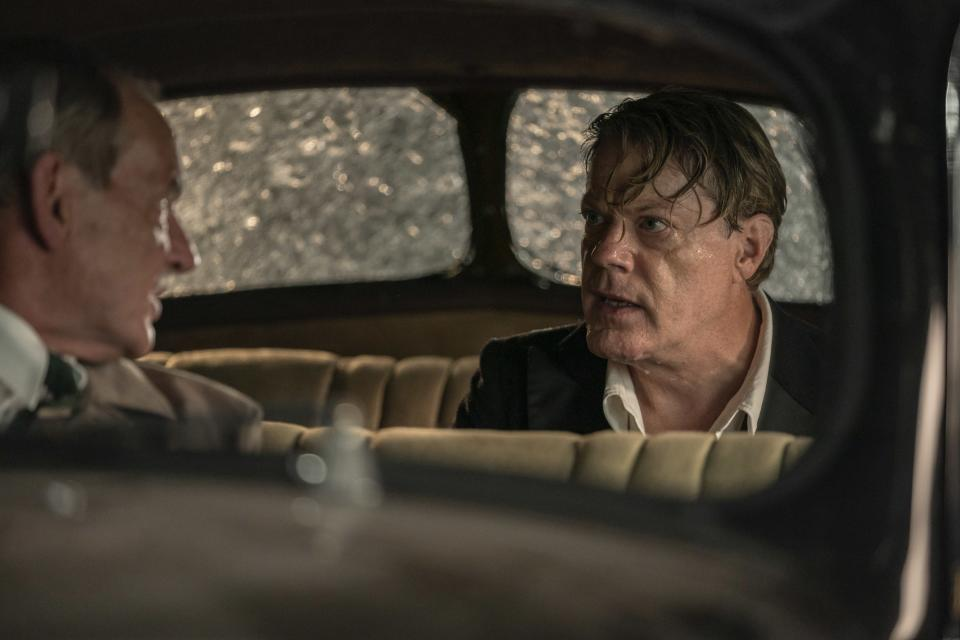 """Eddie Izzard appears in a scene from """"Six Minutes to Midnight."""" (IFC Films via AP)"""