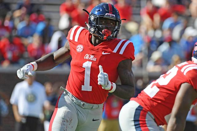 Ole Miss's A.J. Brown should be regarded as the top wideout in this NFL draft. (AP)