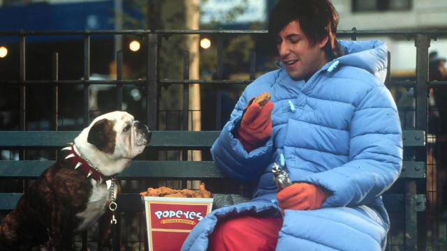 Adam Sandler in fantasy comedy 'Little Nicky'. (Credit: New Line Cinema)
