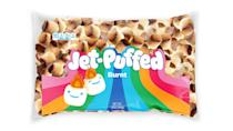 <p>It takes real skill to achieve the perfect toasty marshmallow but thanks to Jet-Puffed, all you have to do is pop these pre-roasted mallows in your mouth. Just kidding! If only these were real...</p>