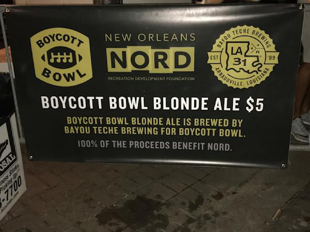 Refreshments are a critical part of any good boycott. (Joe Garza/Yahoo Sports)