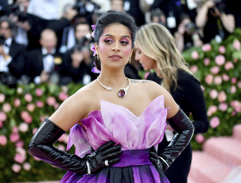 "Lilly Singh attends The Metropolitan Museum of Art's Costume Institute benefit gala celebrating the opening of the ""Camp: Notes on Fashion"" exhibition on Monday, May 6, 2019, in New York. (Photo by Charles Sykes/Invision/AP)"