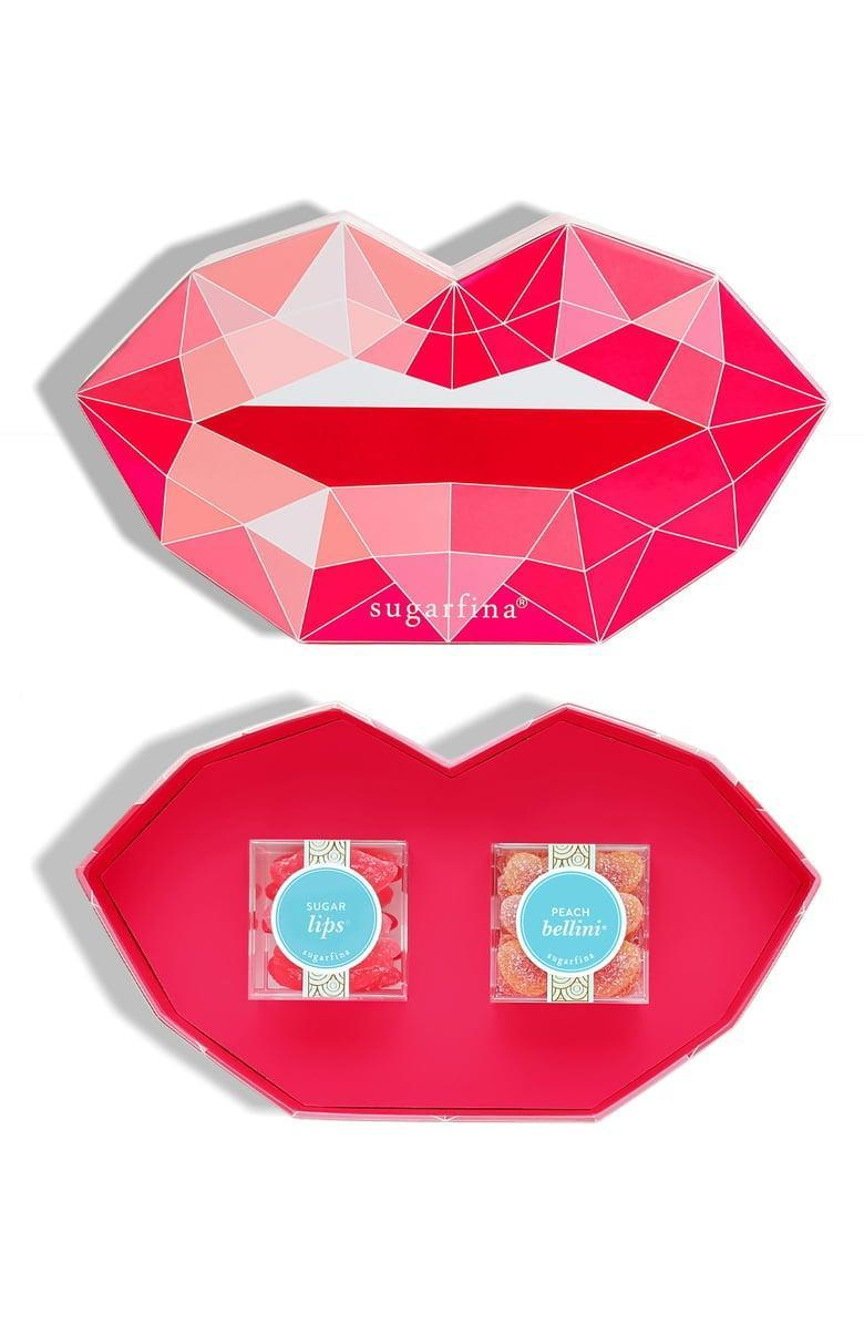<p>We'd be so happy to receive this yummy <span>Sugarfina Pucker Up Set of 2 Candy Cubes</span> ($24).</p>