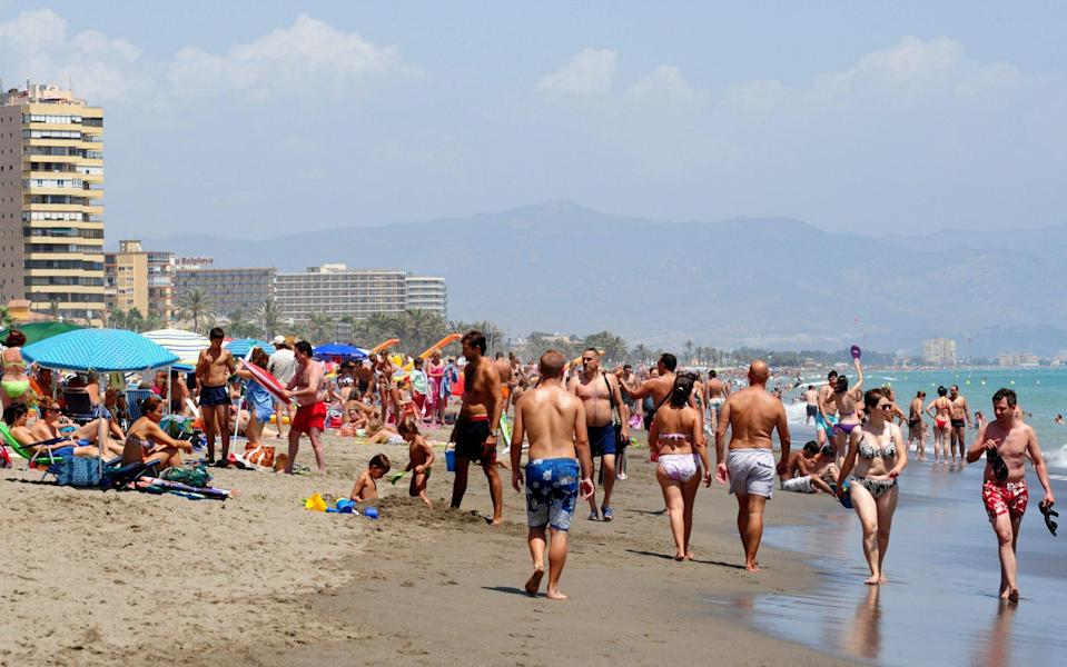 British holidaymakers flocking to Spain in July may have brought back a new strain of coronavirus, a new study suggests  - Jasper Juinen/Getty