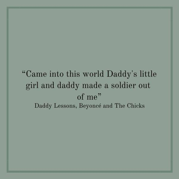 Songs About Dads: Daddy Lessons