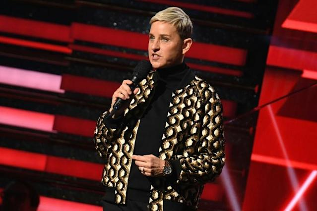 """The internet slammed talkshow personality Ellen DeGeneres when she joked that self-quarantine in her glassy California mansion was like """"being in jail"""" (AFP Photo/Robyn Beck)"""