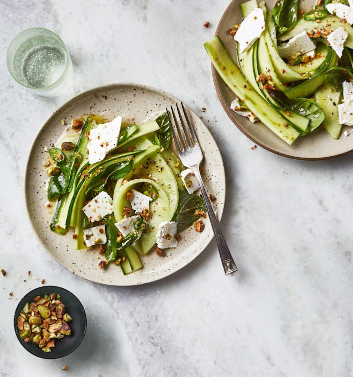 """<a href=""""https://www.bonappetit.com/recipe/cucumber-and-melon-salad-with-chile-and-honey?mbid=synd_yahoo_rss"""" rel=""""nofollow noopener"""" target=""""_blank"""" data-ylk=""""slk:See recipe."""" class=""""link rapid-noclick-resp"""">See recipe.</a>"""