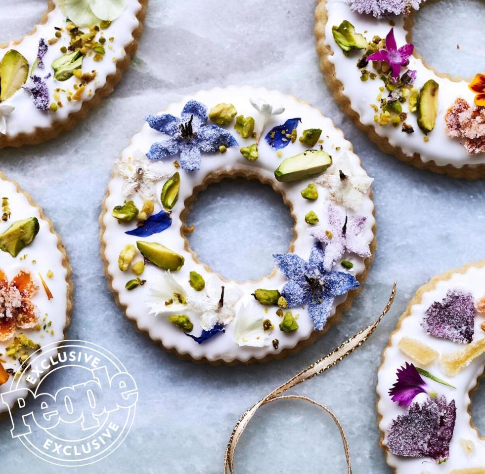 "<p>Martha Stewart's pretty confections are decorated with crystallized ginger, chopped pistachios, and small edible flowers. They will ""make an elegant statement"" on your holiday dessert table, says the lifestyle expert.</p><p>Get the recipe <a href=""https://people.com/food/martha-stewarts-shortbread-cookie-wreaths/"">HERE</a>.</p>"