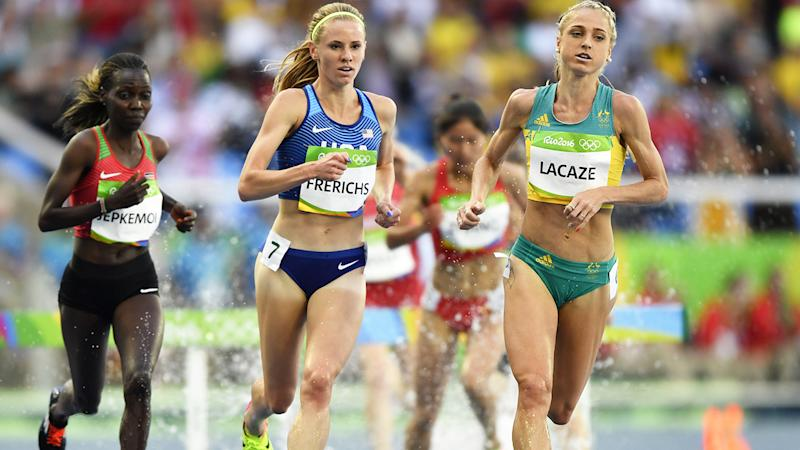 Genevieve Lacaze, pictured here in action at the 2016 Olympics in Rio.
