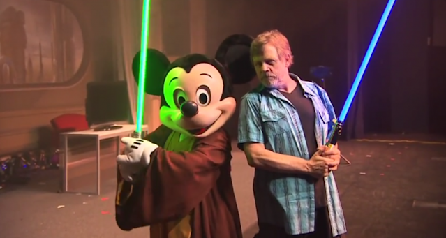 Mickey Mouse and Mark Hamill (Photo: Disney Resorts)