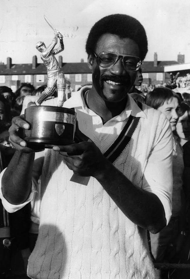 West Indies cricket captain Clive Lloyd at the Oval, London, after receiving the Courtauld Challenge Cup.   Original Publication: People Disc - HP0288   (Photo by Evening Standard/Getty Images)