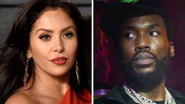 PHOTO: Vanessa Bryant attends an event in Beverly Hills, Calif., on March 4, 2018, and Meek Mill attends a party in Atlanta, Oct. 31, 2020. (Invision/AP | WireImage/Getty Images)