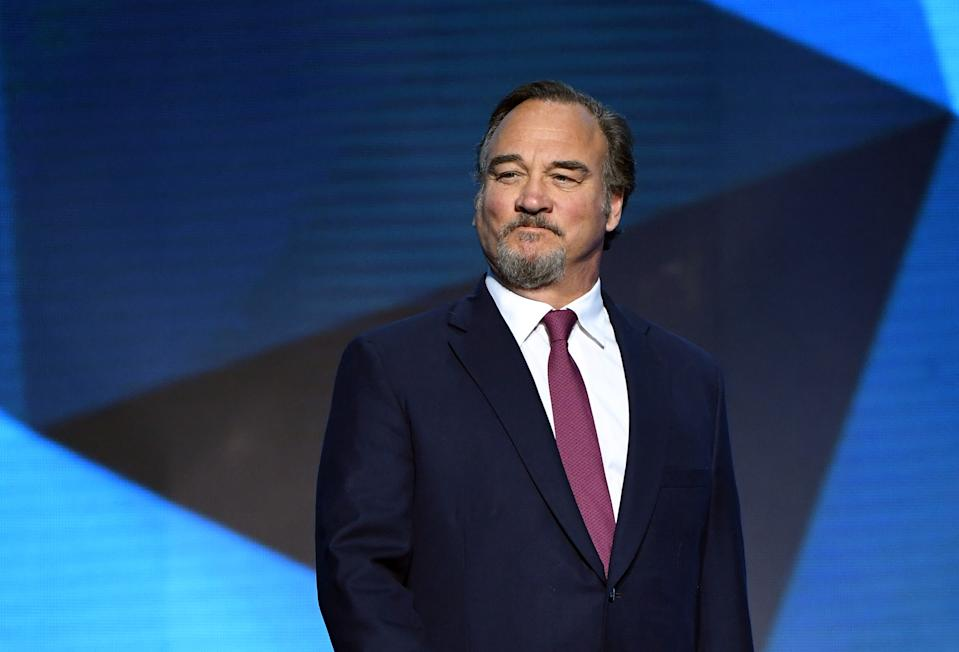 LAS VEGAS, NV - JUNE 20:  Actor Jim Belushi presents the Vezina Trophy during the 2018 NHL Awards presented by Hulu at The Joint inside the Hard Rock Hotel & Casino on June 20, 2018 in Las Vegas, Nevada.  (Photo by Ethan Miller/Getty Images)