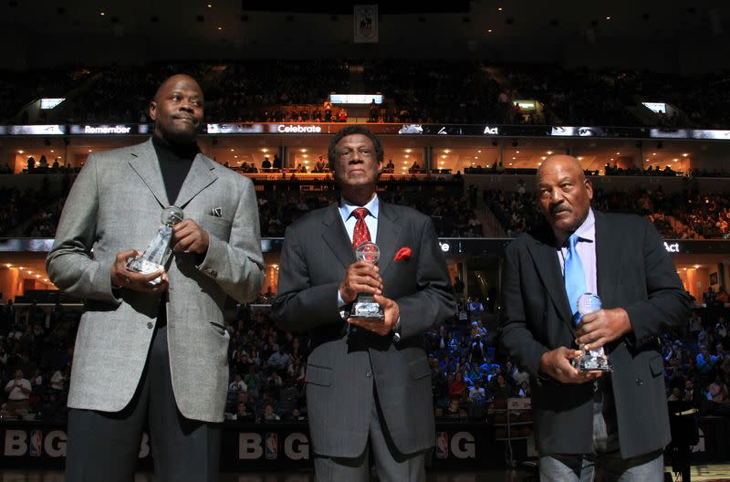 FILE PHOTO: Sports Legacy Award winners are honored during halftime of the NBA game between the Memphis Grizzlies and the Indiana Pacers in Memphis