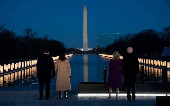Biden and Harris, with their partners, paid tribute to America's Covid victims - AP