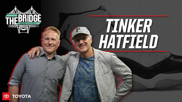 Host Justin Myers sits down with shoe legend Tinker Hatfield
