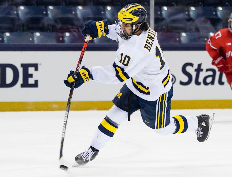 Matthew Beniers is one of three Michigan players to be drafted in the top five picks Friday.