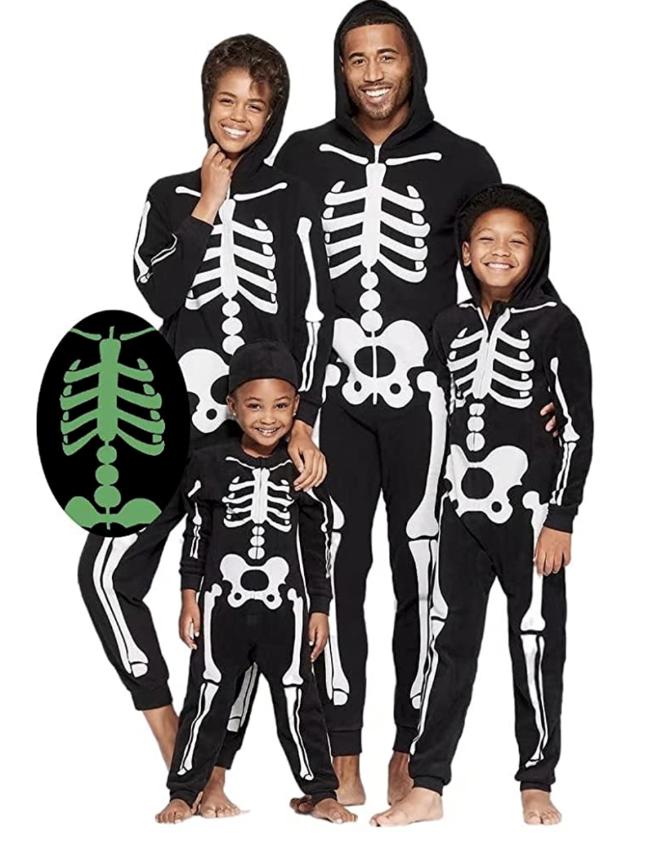 Glow in Dark Skeleton Jumpsuits, starting at $122.96 for four costumes