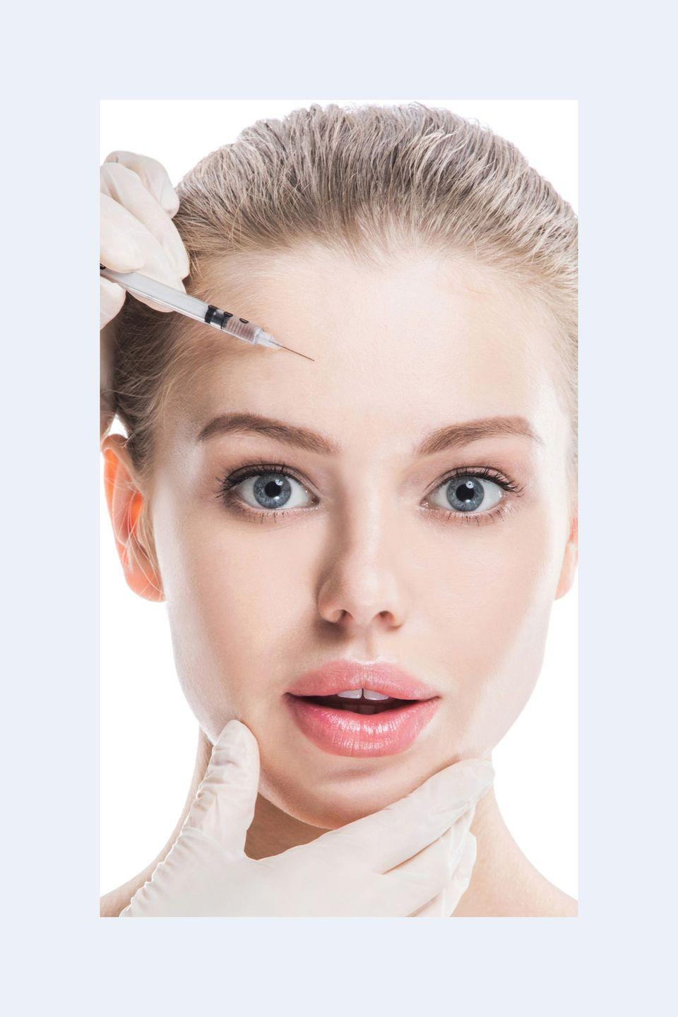 """<p>""""They plump the skin and 'hydrate' it from within, giving you a more youthful appearance.<strong> They also stimulate collagen production, so you can see anti-aging benefits anywhere you inject them. </strong>Companies like Allergan make specialized fillers for different parts of the face: Voluma for cheeks, Vollure for nasolabial folds, and Volbella for lips and lines around the mouth.""""—<em>Dr. Dendy Engelman, celebrity dermatologist </em></p>"""
