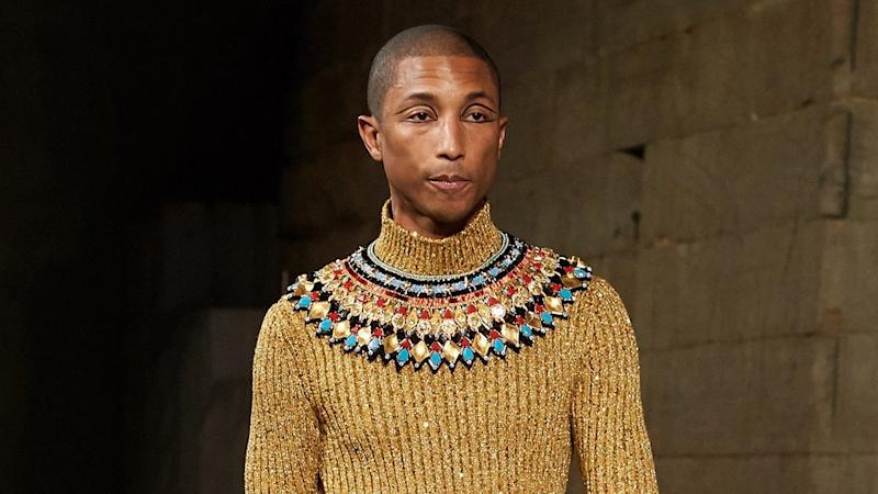 Pharrell Williams Channels a Pharaoh at Chanel Runway Show