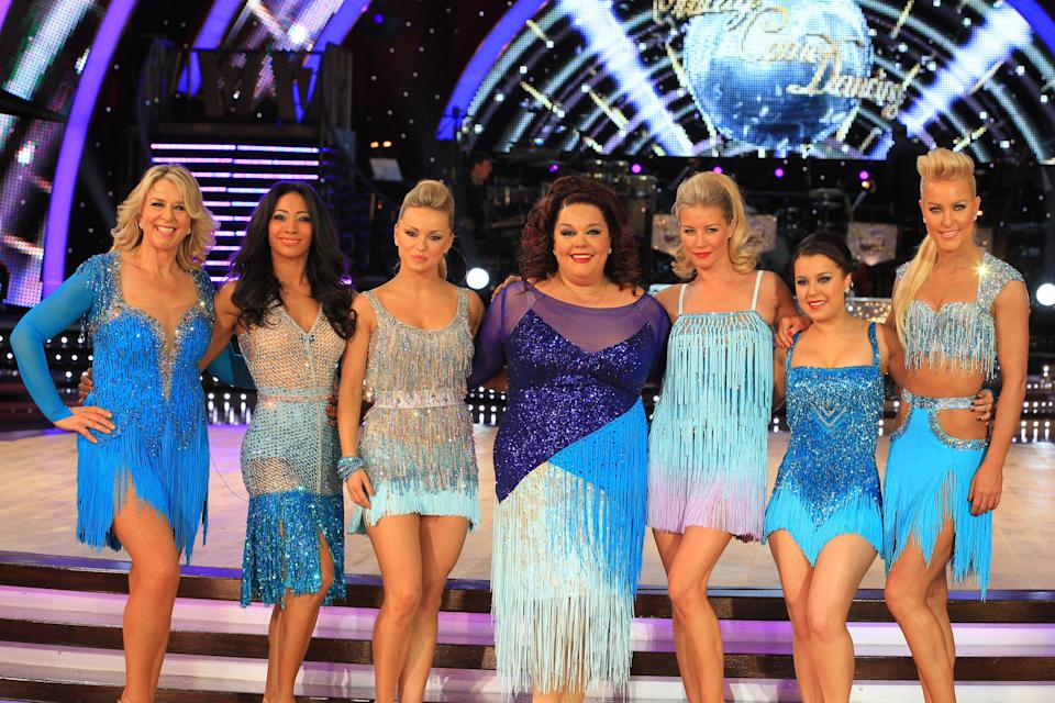 Harmer pictured alongside fellow celebrities forthe 'Strictly Come Dancing' live tour in Birmingham, 2013Beretta/Sims/Shutterstock