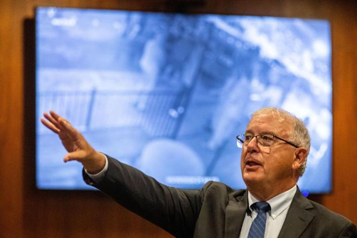 Douglas County prosecutor Don Kleine talks about a video of the confrontation between Jake Gardner and James Scurlock. (Chris Machian/The World-Herald)