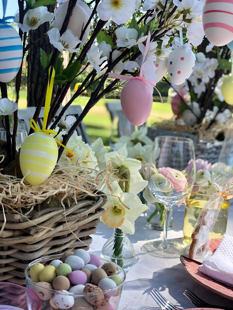 Eggs galore at Easter lunch.
