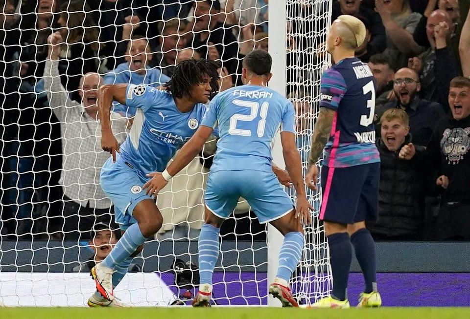 Manchester City's Nathan Ake has dedicated his goal against Leipzig to his father (Martin Rickett/PA) (PA Wire)