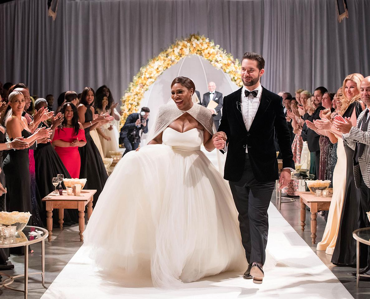 """<p>Serena's <a rel=""""nofollow"""" href=""""http://people.com/style/serena-williams-wedding-dress-details-photos/"""">wedding to </a><a rel=""""nofollow"""" href=""""http://people.com/style/serena-williams-wedding-dress-details-photos/"""">Reddit co-founder </a><a rel=""""nofollow"""" href=""""http://people.com/style/serena-williams-wedding-dress-details-photos/"""">Alexis Ohanian</a> had a <a rel=""""nofollow"""" href=""""http://people.com/music/beyonce-serves-up-smiles-at-serena-williams-wedding-to-alexis-ohanian/"""">star-studded guest lis</a><a rel=""""nofollow"""" href=""""http://people.com/music/beyonce-serves-up-smiles-at-serena-williams-wedding-to-alexis-ohanian/"""">t</a>, an appearance from their newborn daughter and the most spectacular princess-style ball gown with embellished cape by Alexander McQueen. """"I felt like a princess and superwoman all at once,"""" she <a rel=""""nofollow"""" href=""""https://www.instagram.com/p/BbzRfubBeVx/"""">said</a> about her fairytale gown. </p>"""