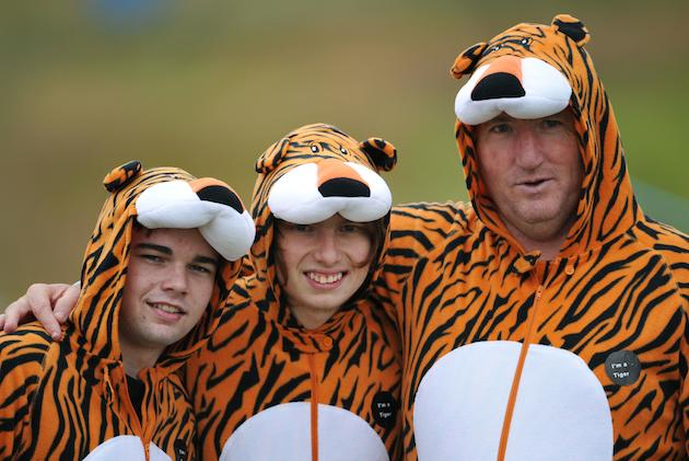 tiger woods fans take support to another level at the