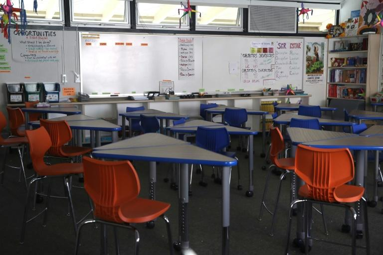 Schools in California have been closed since the coronavirus lockdown began, although classes for most of the state's 6.1 million pupils have continued online