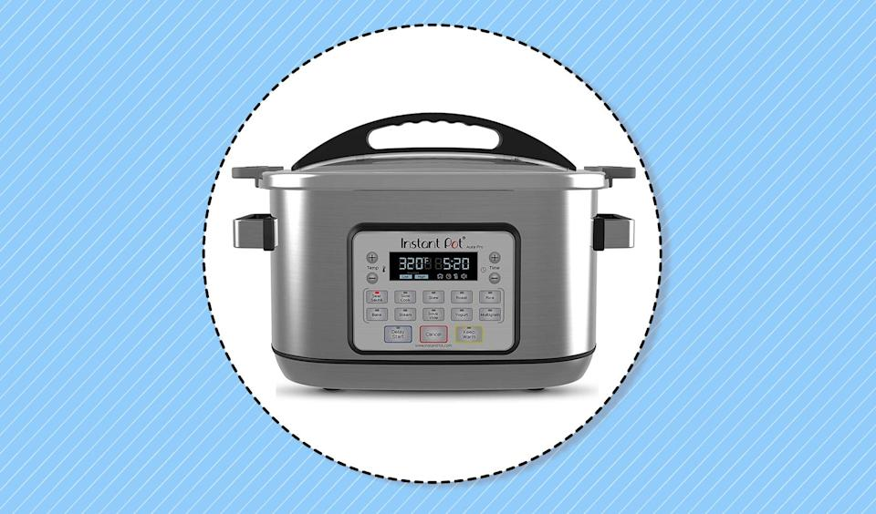 Instant Pot 8-quart Aura Pro Multi-Use Programmable Multicooker with Sous Vide. (Photo: Amazon)