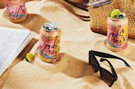 """This refreshing grapefruit and tequila cocktail, served right in the can, is refreshing, subtly sweet, and salty. It's ideal for navigating the crowds on a hot beach day. <a href=""""https://www.epicurious.com/recipes/food/views/salty-paloma-soda-can-cocktail?mbid=synd_yahoo_rss"""" rel=""""nofollow noopener"""" target=""""_blank"""" data-ylk=""""slk:See recipe."""" class=""""link rapid-noclick-resp"""">See recipe.</a>"""